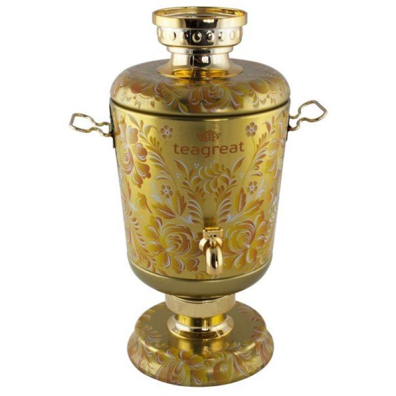 """Чай Teagreat чёрный с добавками. """"Самовар"""", (золотой)."""