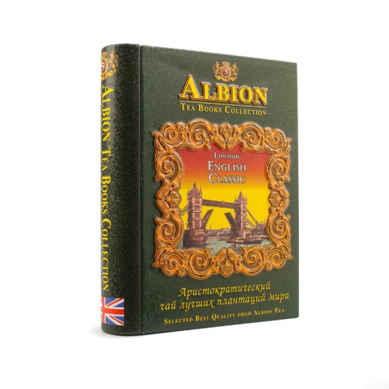 """Чай Albion черный и зеленый. Шкатулка-книга Том 5 """"English Classic""""."""