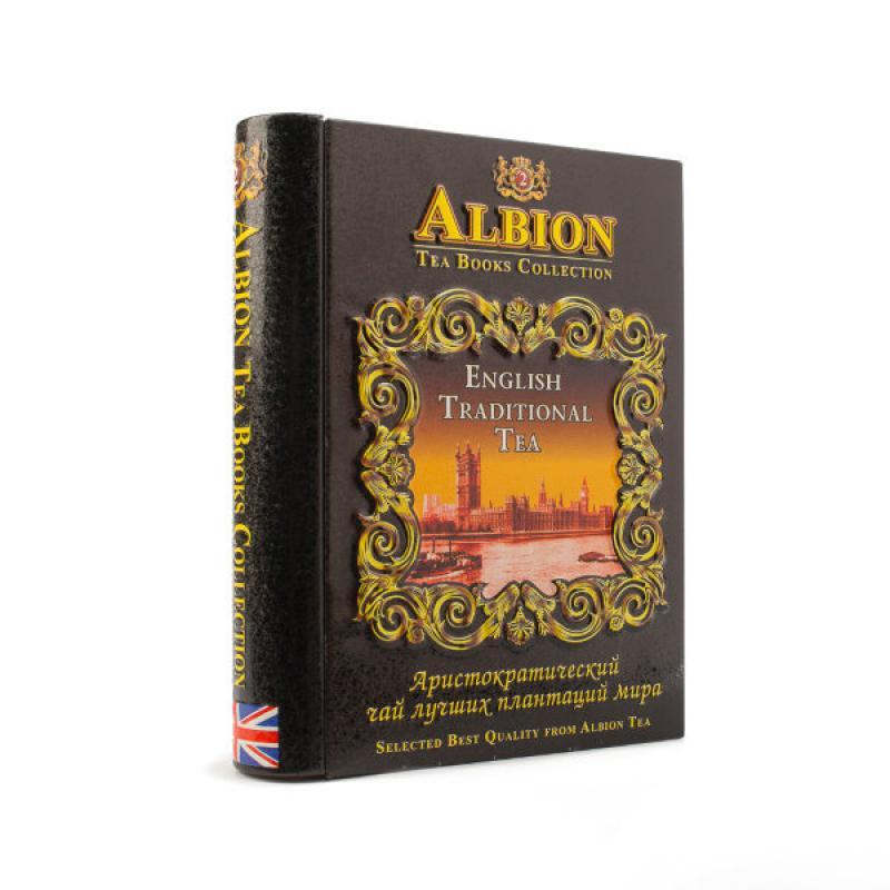 """Чай Albion черный Шкатулка-книга Том 2 """"English Traditional Tea""""."""