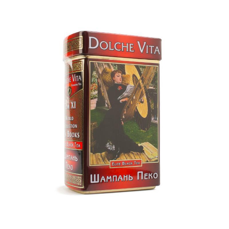 """Чай Dolche Vita листовой черный Шкатулка-книга Том 11 """"Шампань Пеко"""""""