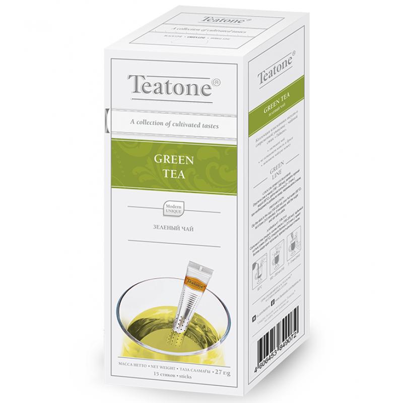 Чай Teatone. Зеленый. Стики. 15 х 1,8 гр.